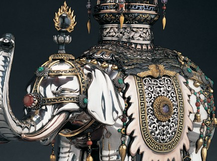 Japanese Collection Koro Silver Elephant