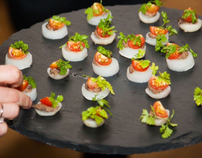 corporate venue hire canapes