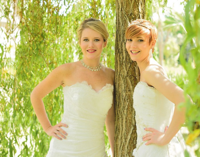 russell cotes weddings brides in gardens