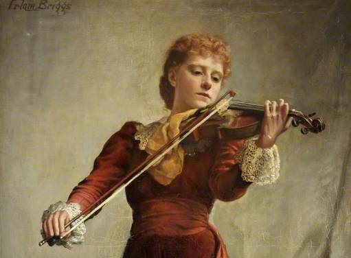 Briggs, Emma Irlam; The Violinist; Russell-Cotes Art Gallery & Museum; http://www.artuk.org/artworks/the-violinist-58322