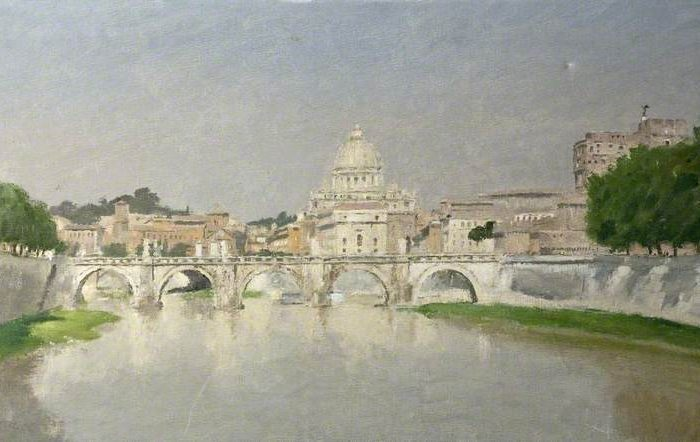 Carr, Henry Marvell; View in Rome, Italy; Russell-Cotes Art Gallery & Museum; http://www.artuk.org/artworks/view-in-rome-italy-58305